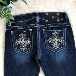 Miss me jp5074 bootcut jeans contrast stitching 25
